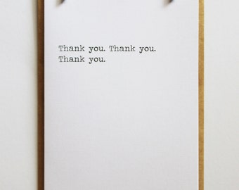 Thank you. Thank you. Thank you. | Minimalist Keepsake Notes Greeting Card