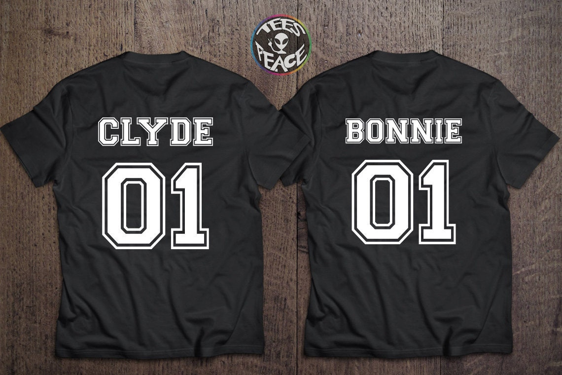 bonnie 01 clyde 01 bonnie clyde couples t shirt by tees2peace. Black Bedroom Furniture Sets. Home Design Ideas