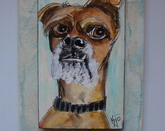 Sartorial Scruffy, Oregon Day 28, DogADay Painting