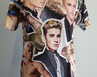 Justin Bieber Photo Collage Shirt