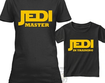 Star Wars Family Shirts, Family Star Wars Shirts, Father and Son Matching Shirts, Jedi In Training, Star Wars Gifts For Dad, Jedi Master Mom