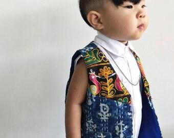 Unisex Kantha Vest 2T, Boys Vest, Hippie Wedding, Junior Usher, Toddler Boys Clothing, Hippie Boy, Hippie Kids, Groomsman