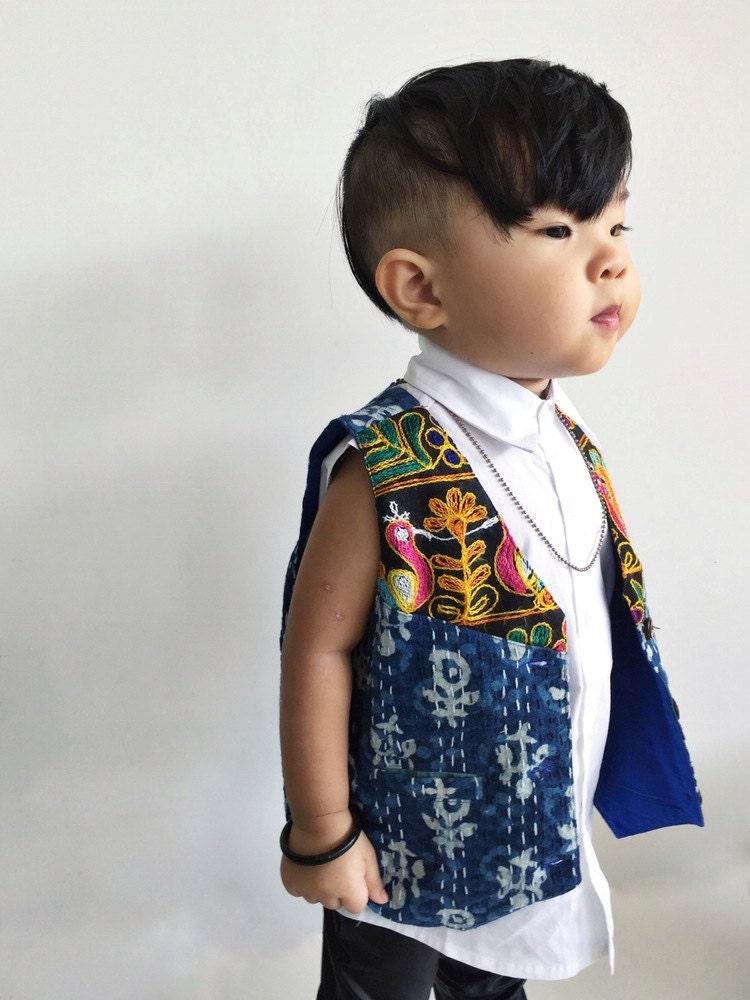 unisex kantha vest 2t boys vest hippie wedding junior