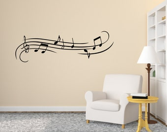Music Note Wall Decal Wall Vinyl Decal Sticker Musical Wall Decor