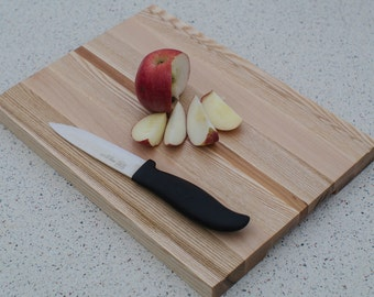READY TO SHIP - Striped cutting board Ash Maple Apple-tree