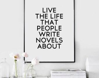 Quote Motivational Print, Quote Wall Art Decor, Motivational Poster, Poster Printable Art, Inspirational Print, Home Decoration Art