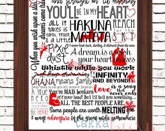 Magical Movie Quotes Art Print