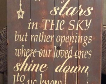 Perhaps They Are Not Stars In The Sky Wood Sign, Distressed Sign, Rustic Sign