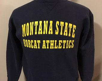 Vintage Montana State University Sweatshirt, Size: Youth Large