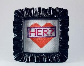 Arrested Development cross stitch - Her?