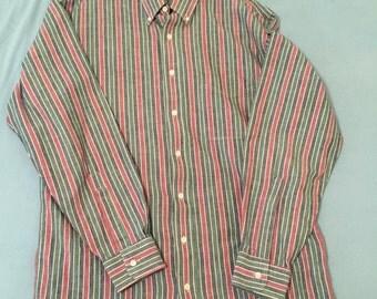 Vintage L.L. Bean Long Sleeve Button Down W/ Chest Pocket 100% Cotton