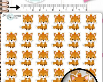 Fox Stickers,Fall Stickers,Woodland Stickers,Animal Stickers,Planner Stickers,Erin Condren,Functional Stickers NR1028
