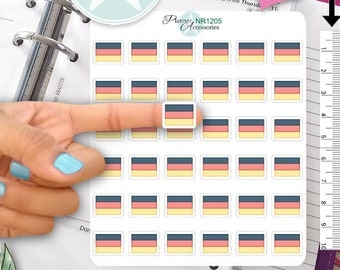 Germany Flag Stickers, German Flag Stickers, Flag Stickers,Deutschland Stickers,German Stickers, ECLP Stickers, Planner Stickers NR1205