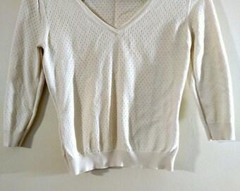 Vintage Natural Beige Sweater