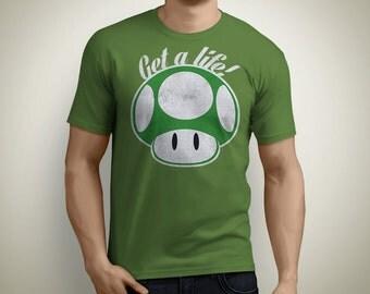 Get a life! - Super Mario Mushroom T-Shirt
