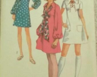 Vintage Simplicity Dress Pattern #8805 - 1970s