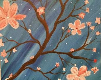 Whimsical Tree 16x20 Original signed acrylic painting by Joy Brogdon