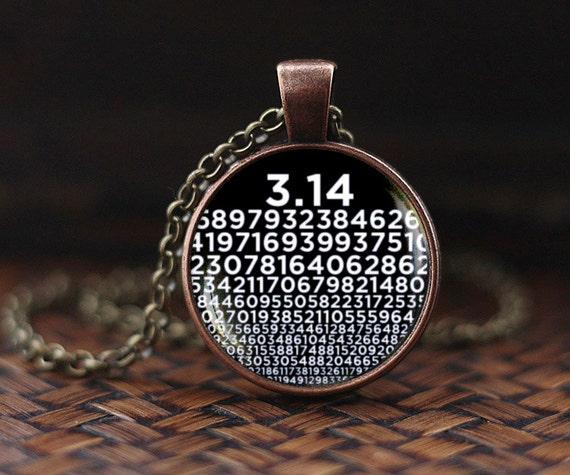 Pi Necklace Numbers Of Pi Pendant Mathematics Math Necklace
