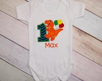 Dinosaur First Birthday Outfit - Dinosaur Birthday Shirt - Birthday Outfit - Dino Bodysuit - Baby Bodysuit - Boys Dinosaur Smash Cake Outfit