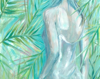 Into the Green, print of the original oil painting, fine art print