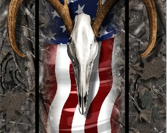 American Buck Wood Camo Cornhole Wrap Bag Toss Decal Baggo Skin Sticker Wraps