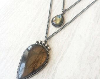 Double Labradorite Necklace
