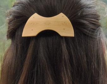 Wooden dowel / wooden hair clip