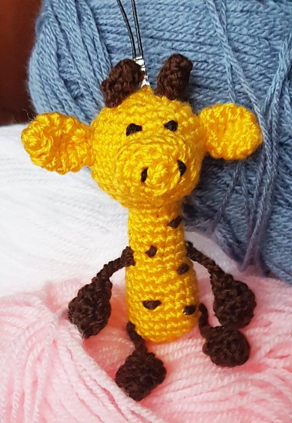 Crochet Toys For Boys : Crochet giraffe amigurumi yellow toy boy by