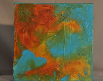 """6"""" x 6"""" Small Painting. Abstract painting. Contemporary art."""