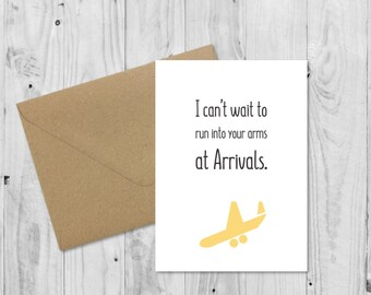 C004 Long Distance Relationship Card, LDR Card, Funny Boyfriend Card, Girlfriend Card, Birthday Card, Anniversary Card, Valentines Card
