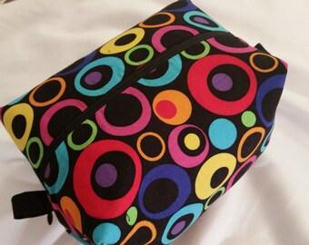 Circle mania makeup bag - Box makeup bag