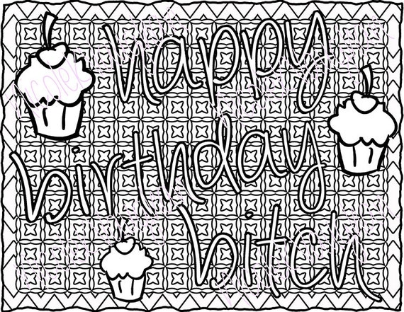 birthday coloring pages for adults - photo#31