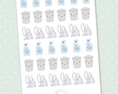 Cute housework planner stickers - 36 kawaii house cleaning stickers for planner Midori, Erin Condren, Filofax, Kikki K and Webster's Pages