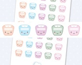 Kawaii scale planner stickers, cute scales planner stickers - 35 cute planner stickers kawaii weight scale