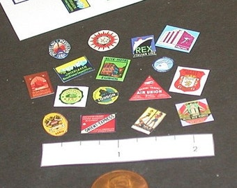 Miniature Victorian Luggage Labels