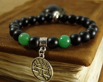 Zodiac Jewelry Jade Bracelet Astrology Jewelry Gemstone Bracelet Healing Stones Energy Bracelet Horoscope Jewelry Stretch Bracelet Zodiac