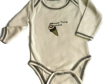 Organic Baby Bodysuit/ Day of the Week LS