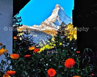 View Of The Matterhorn From Zermatt, Swizterland