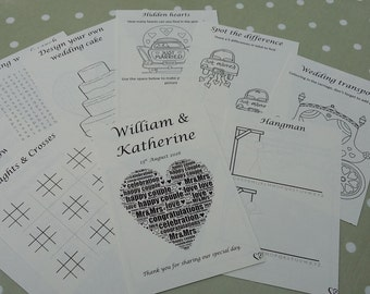 Ready Made A5 children's wedding activity packs