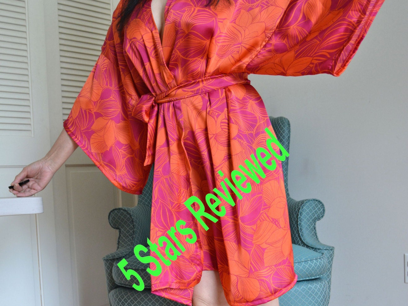 October Red robes Christmas robes Floral satin robe bridal