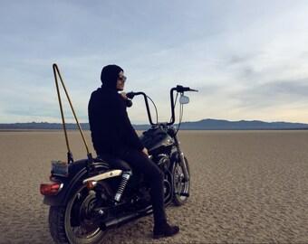 Cosmic gold Sissy Bar for Harley Davidson Motorcycles.