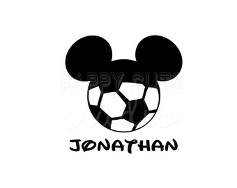 Personalized Soccer Mickey Mouse Sports Hat Father Son Sports Team Matching family Mickey Mouse Disney Iron On Decal Vinyl for Shirt 062