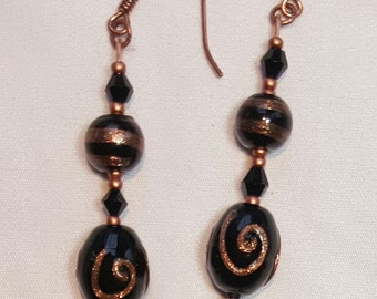 Copper and Black Elegance