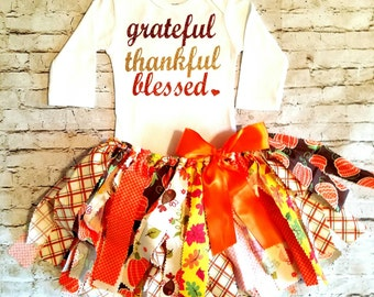 baby girl clothes Thanksgiving outfit grateful thankful blessed fall tutu baby girl pumpkin fall first thanksgiving outfit girl leg warmers