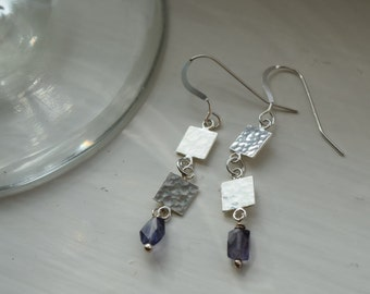 Dangly silver squares