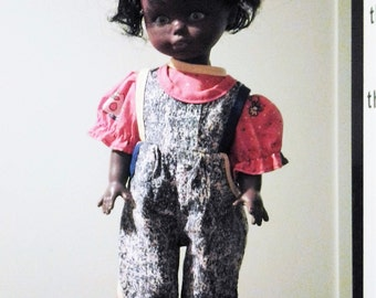 20% off Black Afro Negro Doll made in Hong Kong