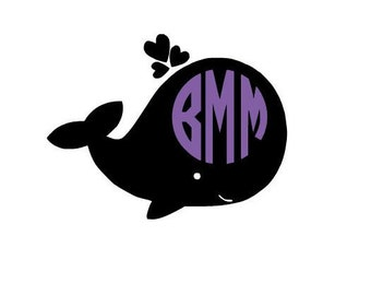 Monogrammed Whale