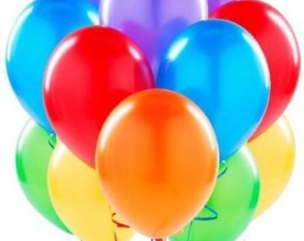 100 LARGE LATEX Party Baloons, Happy Birthday Balloons, Wedding balloons