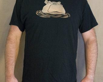 Hippo T-Shirt Bleach Design Kid's Shirt - original design - hippo design - bleach t-shirt - kid's hippo shirt - hippo bleach design -
