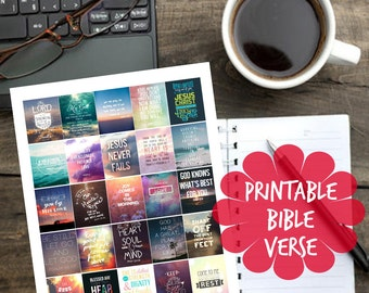 Printable Bible Verse Planner Stickers for Erin Condren Planner
